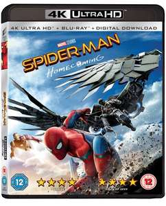 Spider Man Homecoming 4K Ultra HD Blu-ray - £9.99 with any purchase @ HMV