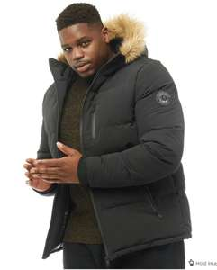 Brave Soul Mens Plus Size Trailblazer Parka Black £64.98 Delivered @ MandM Direct