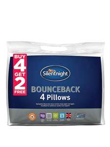 Silentnight Buy 4 get 2 FREE pack of Pillows! lots of pillows! £17 @ Very - Free c&c