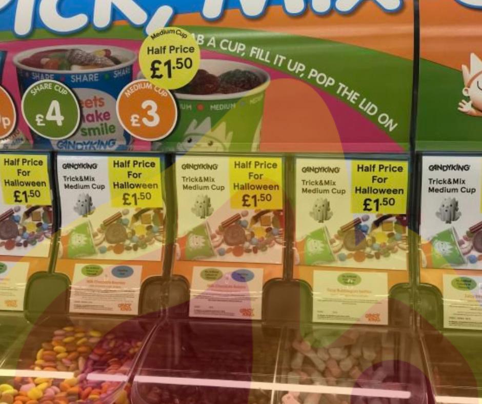Half price Pick & Mix @ Tesco instore (medium cup £1.50)