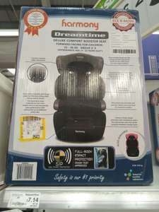 Children's booster seat Harmony dream time group 2-3 belverdere Asda instore £7.14