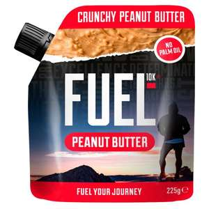 Fuel10k Peanut Butter 225G at Tesco (two for £3.00 or 50p each with Clicksnap - when you buy two) Max 12 packs per flavour @ Tesco