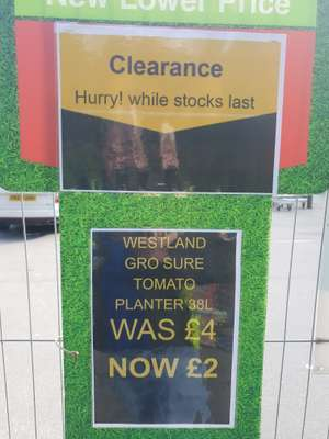 Wickes Aintree Compost reductions - £2 e.g Gardeners Multi Purpose Compost 90L