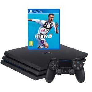 PlayStation 4 Pro 1TB with FIFA 19 Bundle - Black - £314.10 @ AO eBay