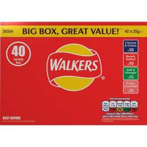 Spar 12 weeks of Christmas - Walkers 40 pack: 10p each - £4 (available 19th to 25th Oct)