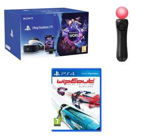PlayStation VR Starter Pack, PS4 Move Controllers & WipEout: Omega Collection Bundle - £239.99 @ Currys
