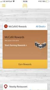 McDonald's Coffee Hack - Get six virtual stamps ordering by app and get real stamps at same time so Two free drinks with six cups of coffee