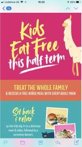 Kids eat free this half term with every adult meal @ Las Lguanas