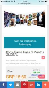 Xbox Game Pass 3 Months £15.77 @ SCDKey