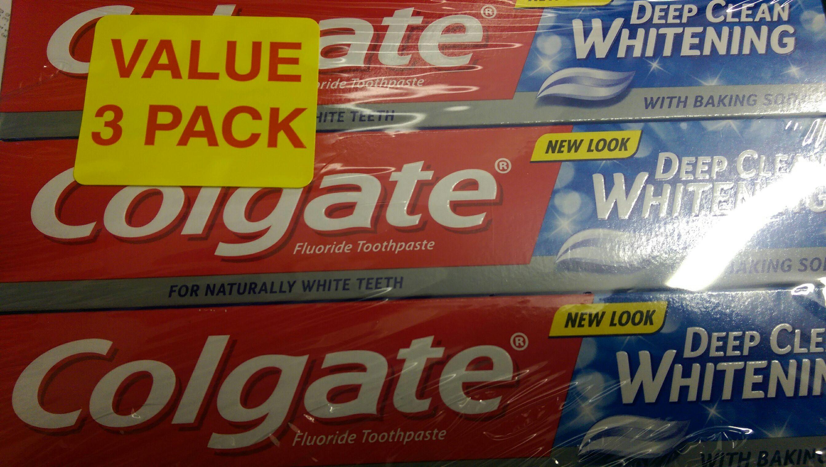 Tesco in-store, 3 pack of Colgate Deep Clean Toothpaste 75ml £1.25