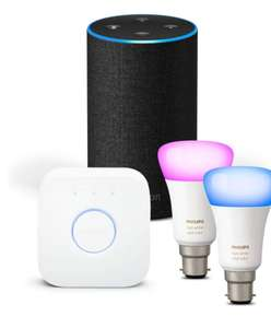 Amazon Echo (2nd Gen), All colours  + Philips Hue White and Colour Ambiance Mini Starter Kit B22 £142.50 @ Amazon