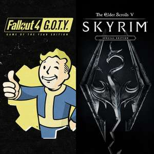 Skyrim Special Edition + Fallout 4 G.O.T.Y. Bundle on PSN £24.99
