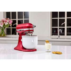 KitchenAid Candy Apple 4.8L Mixer with Glass Bowl, Ice Cream Maker & Cookbook £291 @ Wayfair