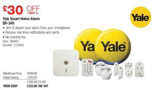 Yale SR-340 Smart Home Alarm System - Costco in-store only for £323.98