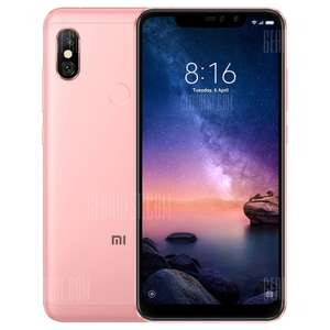 Xiaomi Redmi Note 6 Pro - 4GB RAM 64GB ROM - 6.26 inch 4G Phablet Global Version - PINK £149.64 (fee free) @ Gearbest