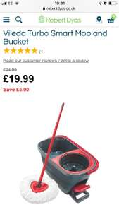 vileda easy wring & clean turbo at Robert Dyas for £19.99 C&C