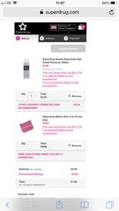 Superdrug Selected Make Up 3 for 2 with a Free Coin Purse