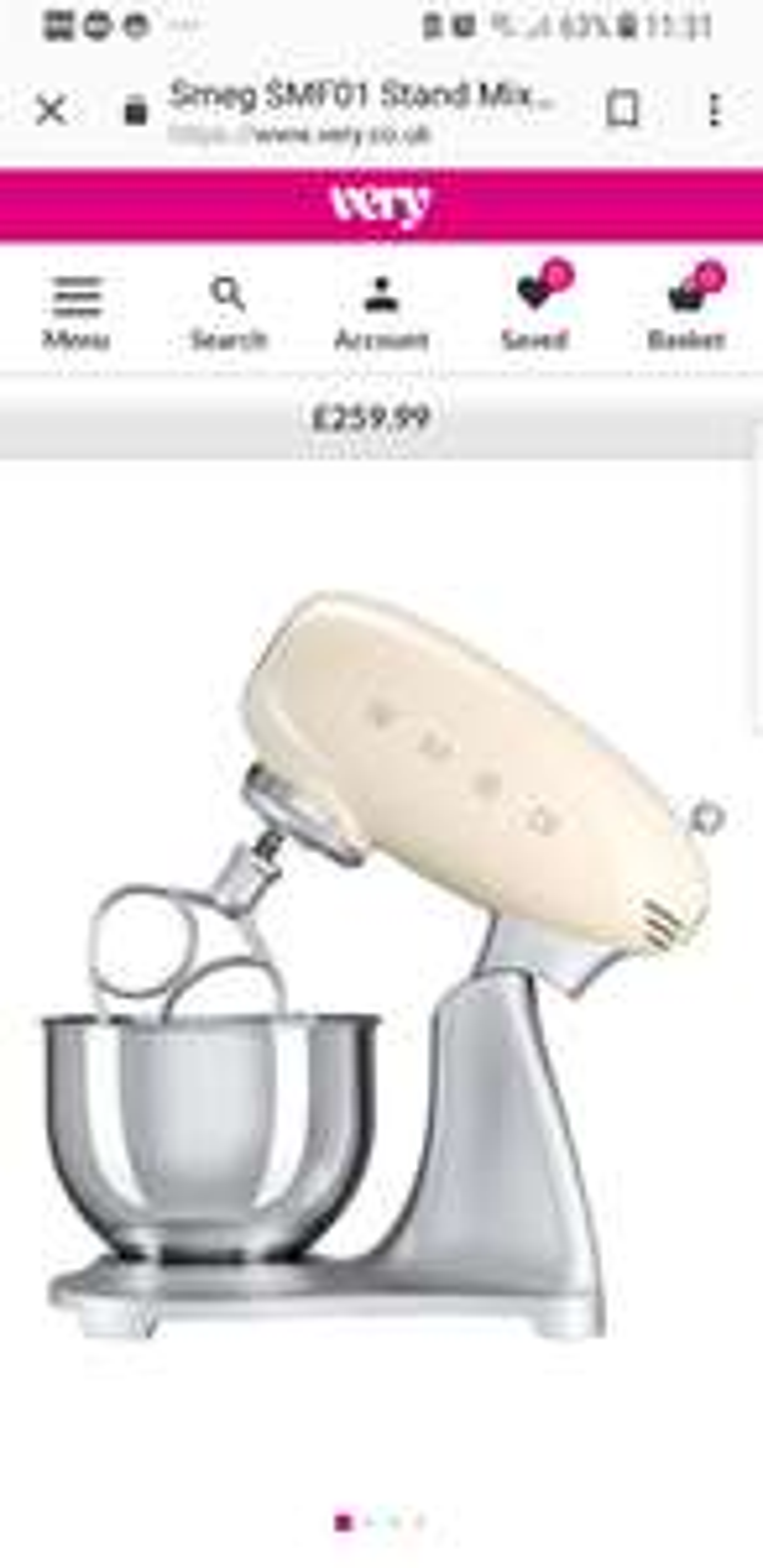 Smeg Mixer at Very for £259.99