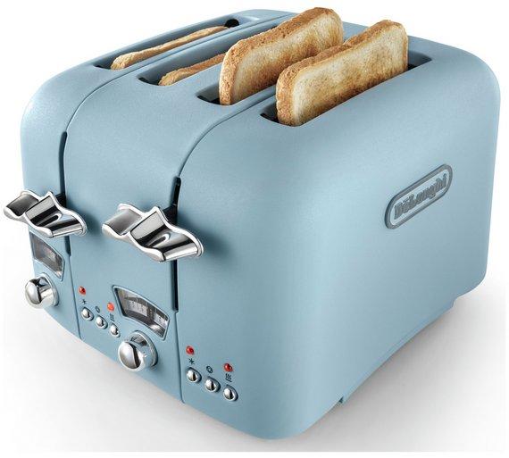 De'Longhi CTO4 Argento Flora 4 Slice Toaster - Blue £29.99 @ Argos