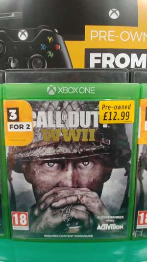 Call of Duty: WW2 - Pre-owned XBox One - £12.99 @ GAME instore