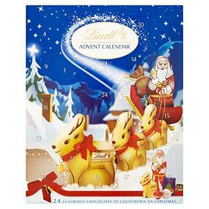 Lindt Advent Calendar Milk Chocolate, 160 g (Pack of 2) Amazon - £10 (Prime) £14.49 (Non Prime)
