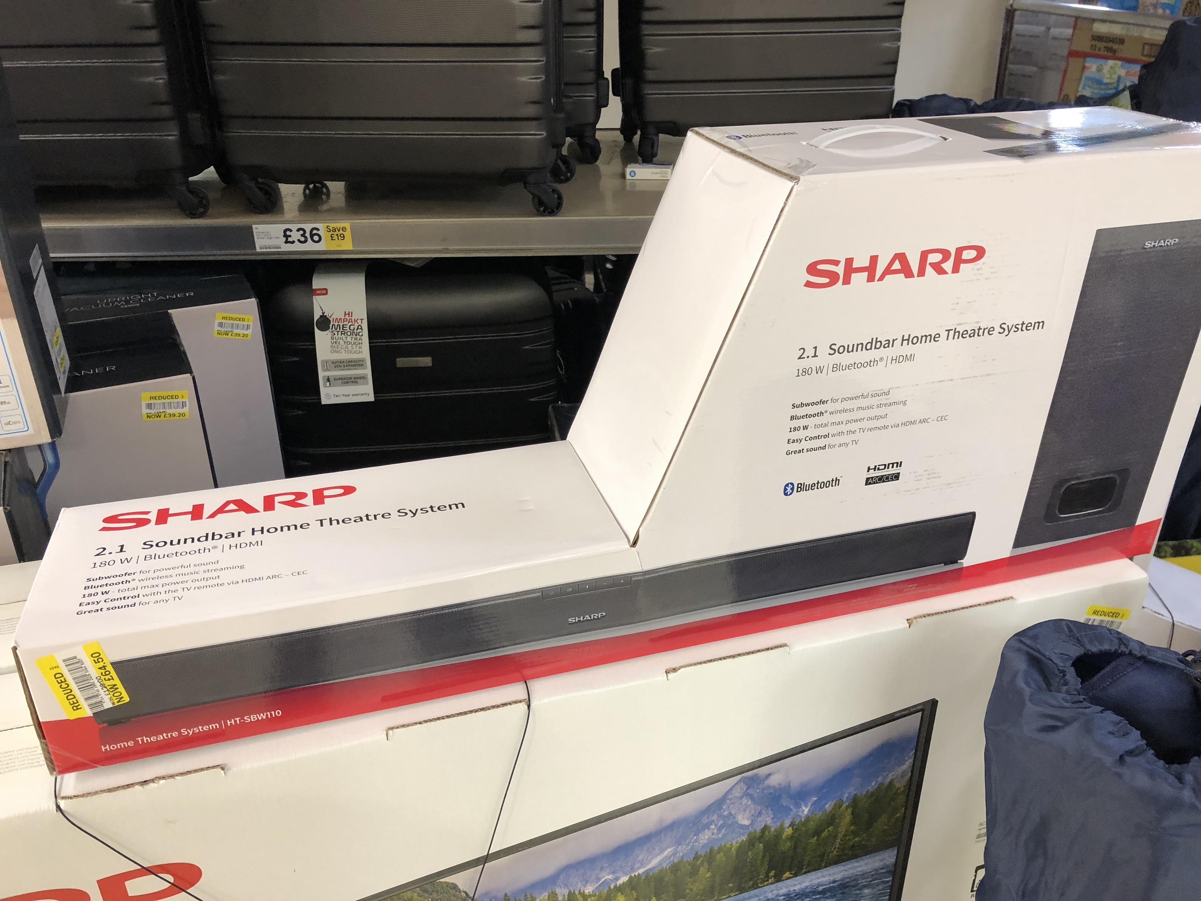 Sharp 2.1 Soundbar HT-SBW110 - £64.50 @ Tesco (Bristol)