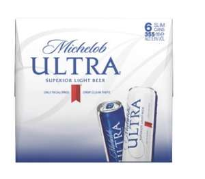 Michelob Ultra Superior Light Beer (low cal & carb) 6x355ml cans £5 at Asda.