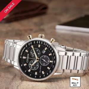 50% discount on decent Citizen Eco-Drive wrist watch with sapphire glass at HM Samuels £124.99