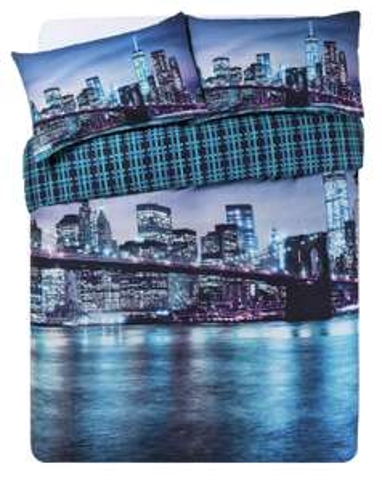 100% Cotton New York Digital Print Bedding Set - King size  £9.99 Delivered  @ Argos on eBay