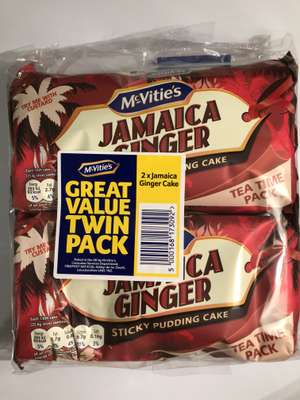 Twin pack of McVitie's Jamaica Ginger Sticky Pudding Cakes only £1 @ Poundland