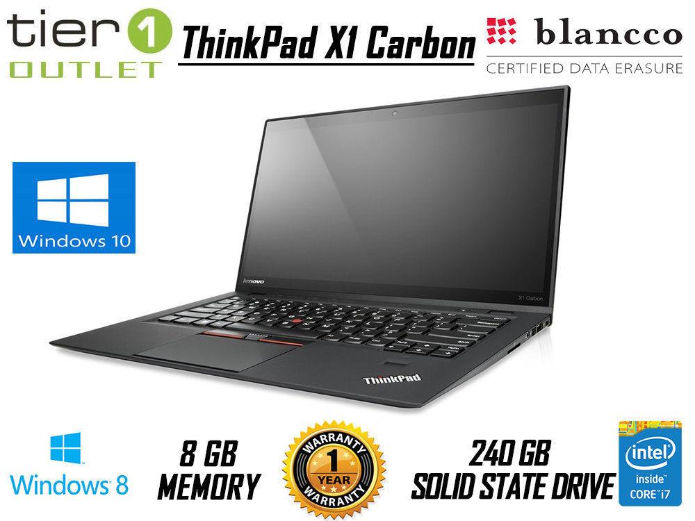 Refurb Lenovo ThinkPad X1 Carbon, 240gb SSD, 8 GB ram, 3rd gen i7 at tier1-outlet ebay £249.99