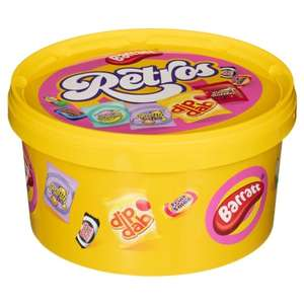 Barratt's Retro Sweets Tub 630g £2.99 @ BM Bargains