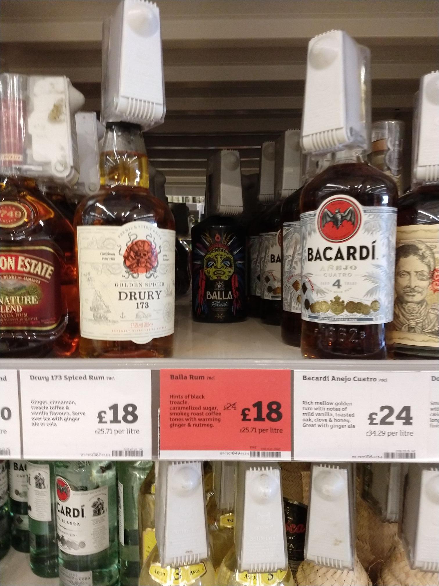 Balla Rum £18 at Sainsburys