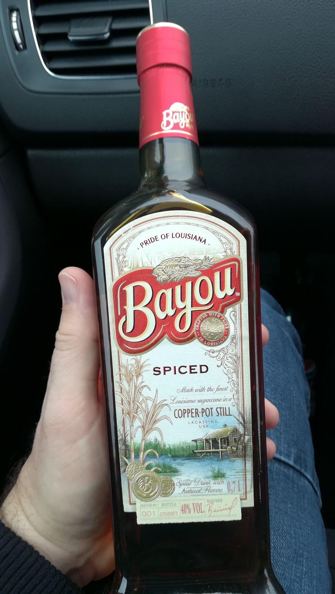 Bayou Spiced rum Asda £20