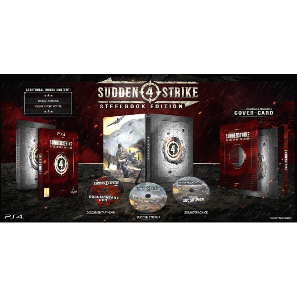 PS4 SUDDEN STRIKE 4 LIMITED EDITION STEELBOOK £15.99 @ Zavvi