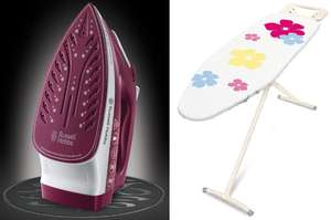 Russell Hobbs Light & Easy Ceramic Steam Iron W/ 3 Year Guarantee & Addis T-Leg Ironing Board £22.98 W/ Code @ Robert Dyas (Free C&C)