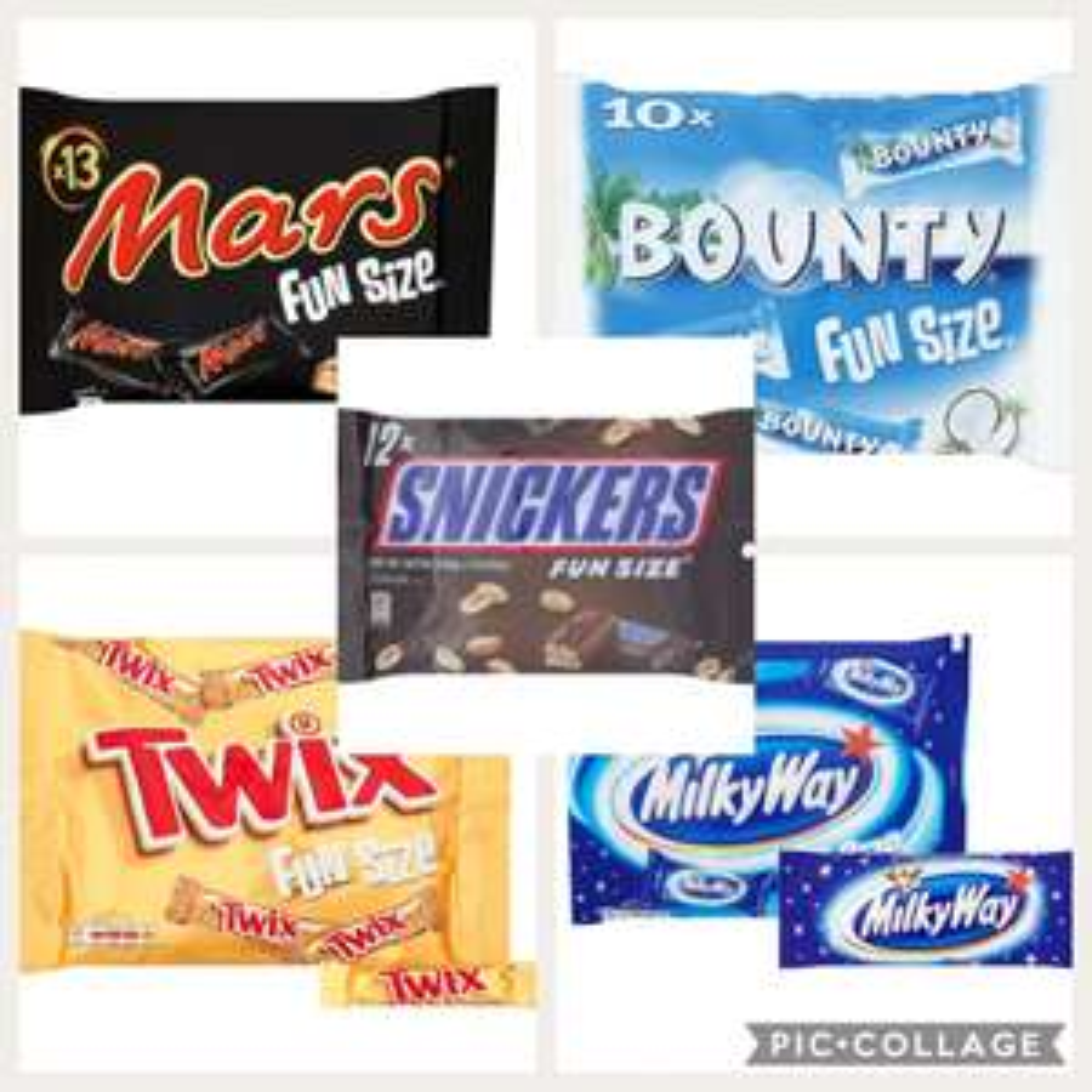 Fun size minis £1 at poundland (mars/snickers/bounty/milky way & twix)