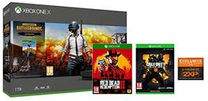 Xbox One X PUBG + Red Dead Redemption 2 Special Edition + Call of Duty 4 Black Ops 4 Exclusive £409.99 Amazon