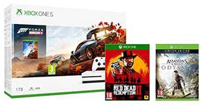 Xbox One S 1TB Forza Horizon 4 (or Tomb Raider) + Red Dead Redemption 2 + Assassins Creed Odyssey Limited Edition Pre-order £229.99 @ amazon