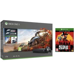 Xbox One X, Forza 7, Forza Horizon 4 + Red Dead Redemption 2 Special Edition £399.99 @ Amazon