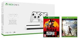 Xbox one S 1tb dual controller bundle with Assassin's Creed Odyssey and Red Dead Redemption 2 £229.99 Amazon