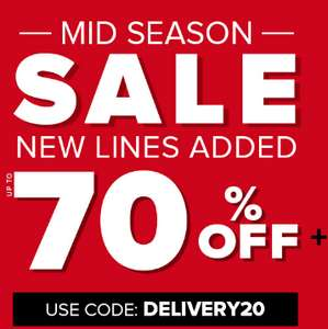 Up to 80% off Sale @ Select Fashion / 20% off Plus Free Delivery on New In Orders over £20 w/code 20NEW (works on some sale items)