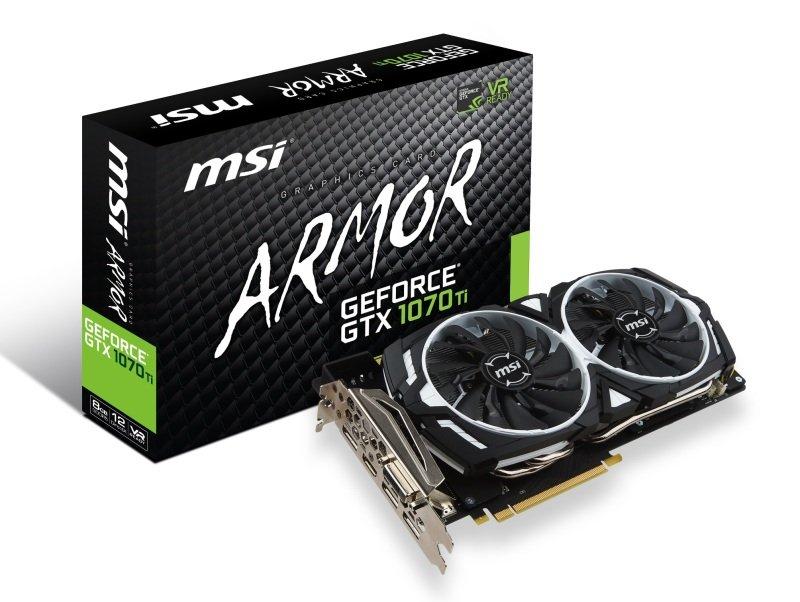 MSI GTX 1070 Ti ARMOR 8GB GDDR5 Graphics Card - £384.98 Ebuyer