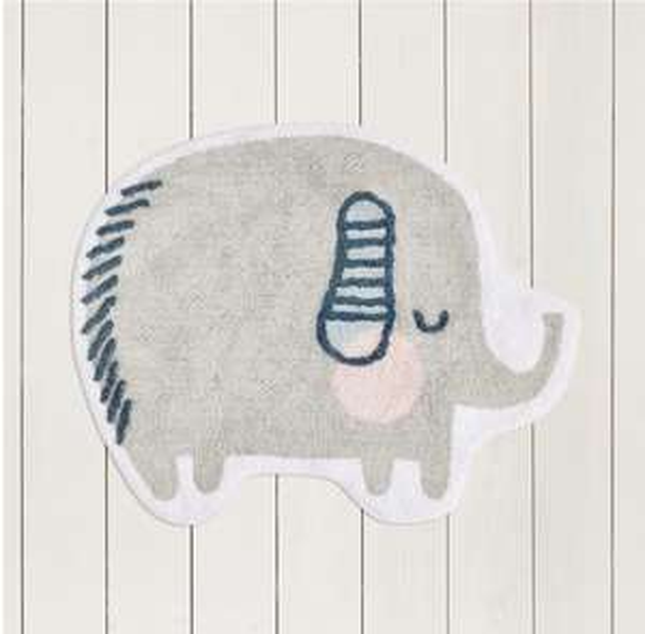 Grey Elephant Shaped Rug (was £12.00) Now £9.00 C&C at Asda George