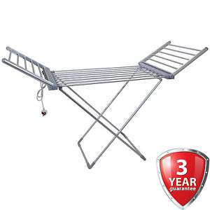 Winged Electric Clothes Airer Dryer Indoor Horse Rack Laundry Folding Washing @ ebay / onlineretailers £32.99