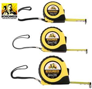 Roughneck E-Z Read Heavy Duty 3 Piece Tape Measure Set £8.98 @ Toolstation (Free C&C)