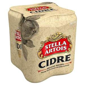 Stella Artois Cidre 4x330ml cans £1.99 in-store at Home Bargains