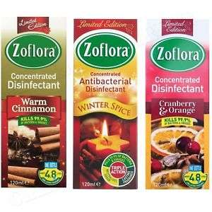 Zoflora Christmas Disinfectant 120ml. 3 Flavours. 99p @ Home Bargains
