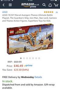 Lego 76107 Marvel Avengers Thanos Ultimate Battle Playset £46.49 @ Amazon/Smyths