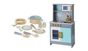 Wooden Deluxe Kitchen and Cooking Set £41 @ asda